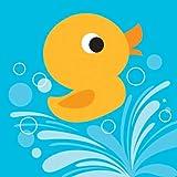Creative Converting Lil¡® Quack Beverage Napkins, 16 Count