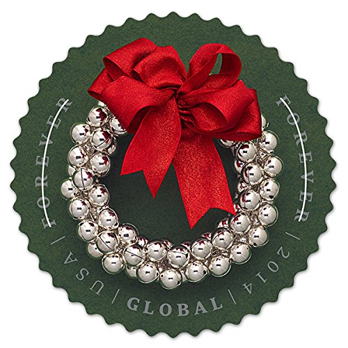 usps-global-forever-international-silver-bells-wreath-postage-stamps-10-stamps-in-total