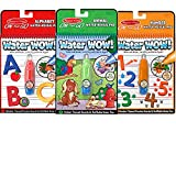 Melissa & Doug On the Go Water Wow! Activity Book, 3-Pack – Animals, Alphabet, and Numbers