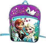 Disney Frozen Princess Elsa and Anna School Backpack - Purple/Pink