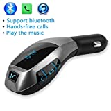 Autos Wireless Bluetooth For BMW X5 Music Player FM LCD Screen Radio Adapter USB Charger