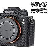 ZLMC Camera Carbon Fiber Film Compatible with Sony A7 Mark III, Anti-Slide Skin Guard Shield,Anti-Scratch Camera Body Cover Sticker Protector(Black)