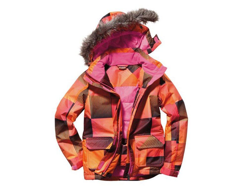 Mädchen Snowboardjacke mit Kapuze Skijacke Schneejacke Winterjacke 158-164 Kariertjacke Orange/Schwarz/Pink günstig bestellen