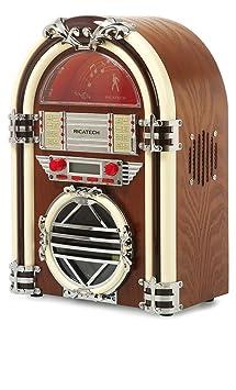 Ricatech RR510 Chaîne Hi-Fi avec Tuner Radio USB Marron