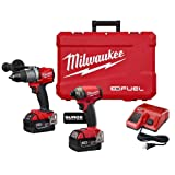 Milwaukee M18 FUEL 18-Volt Lithium-Ion Brushless Cordless Surge Impact and Hammer Drill Combo Kit (2-Tool) w/(2) 5.0Ah B
