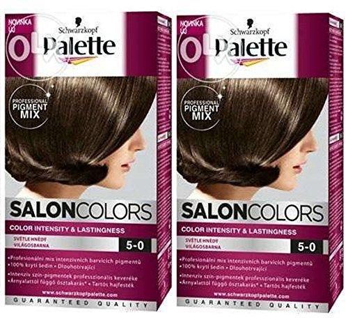 schwarzkopf palette salon couleurs coloration cheveux 5 0 marron clair permanent - Palette Coloration Cheveux
