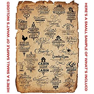 Wall Art Decal Quotes Clipart-Vinyl Cutter Plotter Images-Vector Clip Art Graphics CD by Clipart deSIGN USA