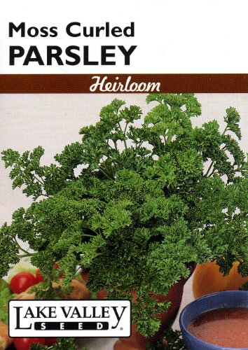 Lake Valley 216 Parsley Moss Curled Heirloom Seed Packet