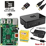 CanaKit Raspberry Pi 2 Complete Starter Kit with WiFi (Latest Version Raspberry Pi 2 + WiFi + Original Preloaded 8GB SD Card + Case + Power Supply + HDMI Cable)