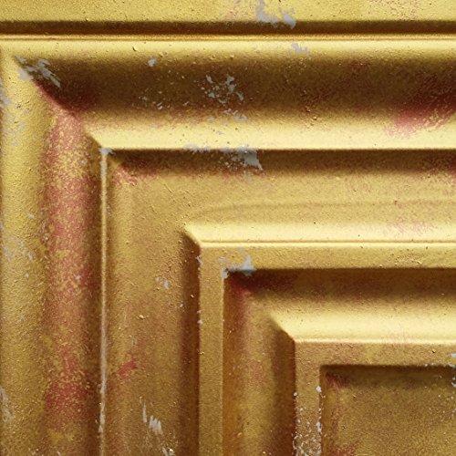 PL05Peinture en détresse or plafond Panneaux muraux décoration carrelage en relief fond photosgraphie 10pieces/Lot