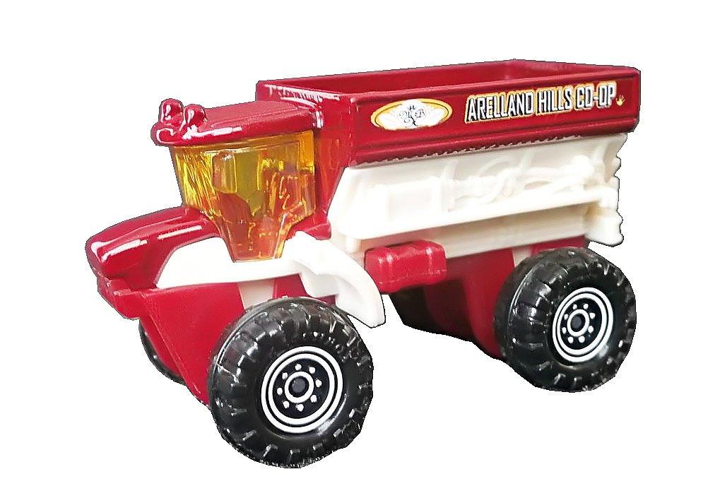 MBX FRM 6000 Sowing Machine rot-weiß Matchbox Sämaschine – MBX Construction – Farm Truck Bauernhof Fahrzeug Traktor als Weihnachtsgeschenk