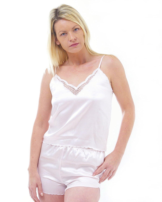 Silk Camisole Top und Hosen Set