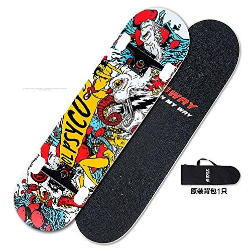 Skateboarding/Quattro ruote acero adulto professionale/Two-up Highway skateboard/Limite pennello Street tra uomini e donne/Bambini yo-B