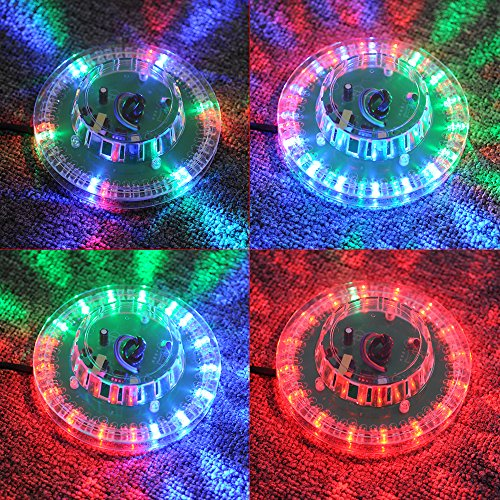 Victec Party Decorative Rotating Led Rgb Light Plate Voice-Activated For Stage Party Disco Dj Light Effect - Transparent