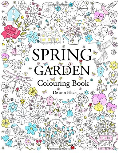Spring Garden: Colouring Book