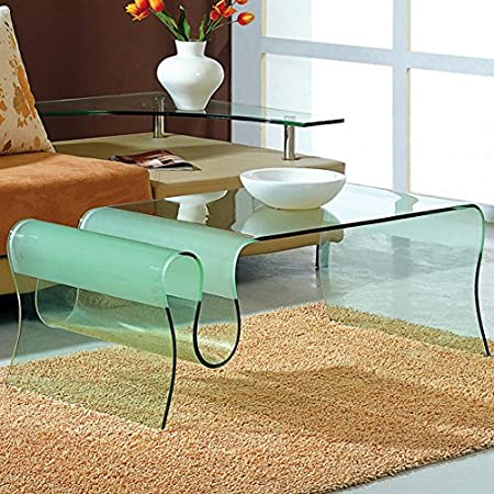 J&M Furniture Modern Coffee Table A062 in Glass