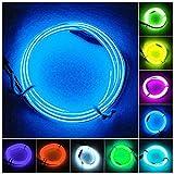 長浜 12V用 EL ファイバーライト 面発光でLEDより明るい フレキシブル テープライト ( 青 ブルー 3m )