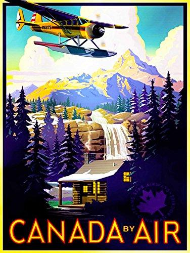 travel-tourism-transport-canada-air-plane-forest-mountain-30x40-cms-fine-art-print-art-poster-bb9980