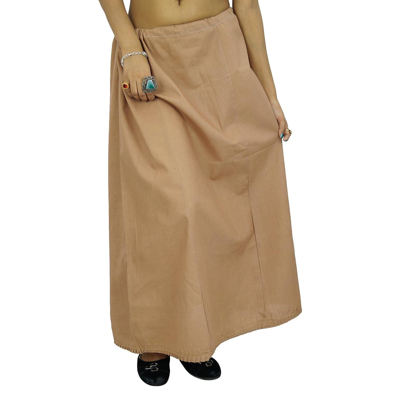 Indische Frauen tragen Baumwolle Bollywood Petticoat Solide Inskirt Futter für Sari-Geschenk für sie günstig
