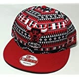 New Era NBA Tri-All Print 9FIFTY Adjustable Snapback Cap, Chicago Bulls (Color: Multi, Tamaño: One Size)