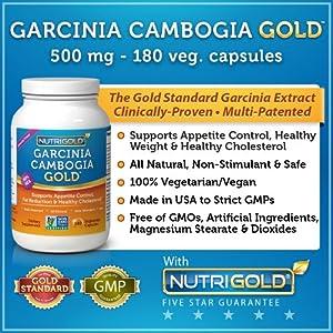 #1 Garcinia Cambogia Extract - Garcinia Cambogia GOLD - 500 mg, 180 Veggie Capsules