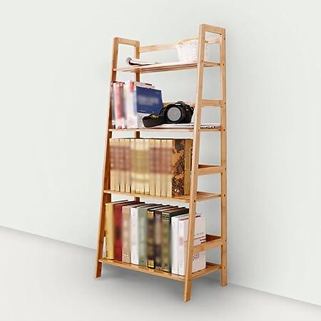 XIAOXIAO Libreria Bamboo Material Modern Minimalist Multi-layer Multifunction (119.5 * 57.5 * 31CM) Facile da spostare