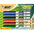 "BIC Great Erase Grip ""Pocket"" Dry Erase Marker, Fine Point, Assorted, 6 Dry Erase Markers (GDEP61-Ast)"
