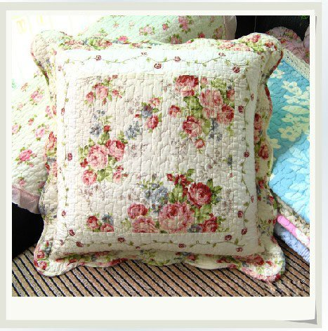 Shabby and Vintage Style Vintage Roses Embroidery Cushion Cover