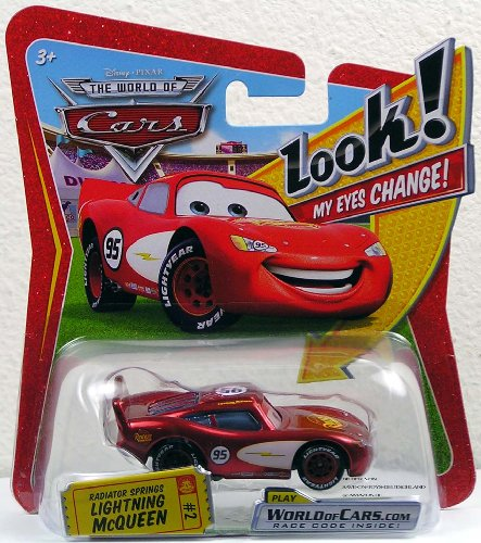 Disney / Pixar CARS Movie 1:55 Die Cast Car with Lenticular Eyes Radiator Springs Lightning McQueen by Unknown
