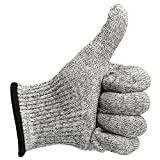 Allezola Cut Resistant Gloves -EN388 Certified High Performance Level 5 Protection,Safty Gloves for Hand protection,Best Food Grade, Lightweight, Breathable, Extra Comfortable, 1 Pair Large