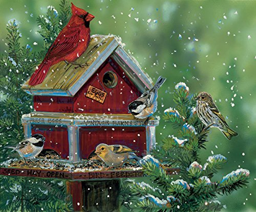 Bird Feed Store a 550-Piece Jigsaw Puzzle by Sunsout Inc.