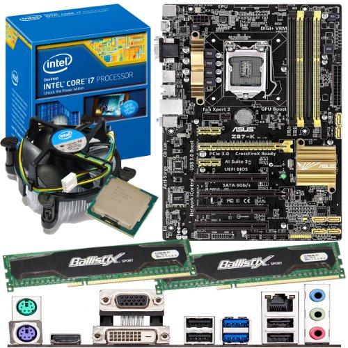 INTEL Core i7 4770K 3.5Ghz, ASUS Z87-K Motherboard & 8GB 1600Mhz DDR3 Crucial Ballistix Sport RAM Bundle