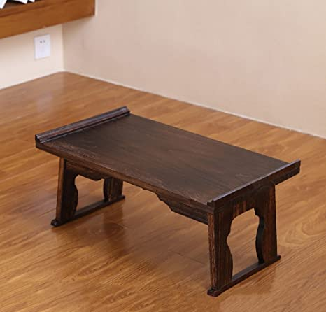 Mesas de centro Mesita de café Mesa de cama plegable de dormitorio Mesa de escritorio de madera maciza perezosa japonesa ( Tamaño : 60*34*27cm )