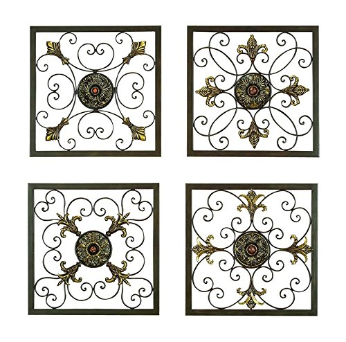 Aspire Metal Wall Plaque Set, Antique Bronze 0