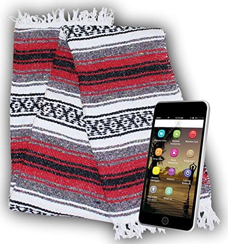Yogi Yoga Premium Mexican Bed Blanket Beautiful Bright