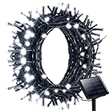 Litom Solar Outdoor 200 LED String Lights 72.18 ft Solar Powered Waterproof Decorative Light with 8 Working Modes for Garden/Home/Party/Bedroom/Xmas/Outdoor Decorations