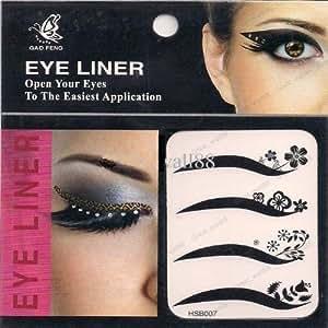 Lidschatten Aufkleber 4 x Eye liner Sticker, Eye liner Tattoo, Augen Tattoo (6)