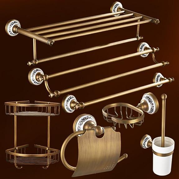 Pieno di antico barra di tovagliolo di rame/[Scaffale da bagno]/ barra appenderia bagno/ stile europeo asciugamano rack/Bagno accessori hardware-O
