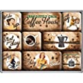 Nostalgic-Art 83058 Coffee und Chocolate House, Magnet-Set, 9-teilig