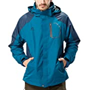 DZ-VD Mens Sportswear 3 In 1 Hiking Climing Coats Outdoor Jackets Hoodie