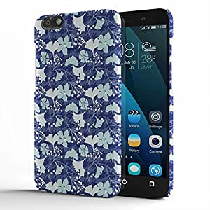 Koveru Designer Printed Protective Snap-On Durable Plastic Back Shell Case Cover for Huawei Honor 4X - Flower Poster