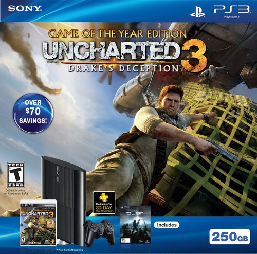 PS3 250GB Uncharted 3: Game of the Year Bundle (Ps3 Console 500gb New compare prices)