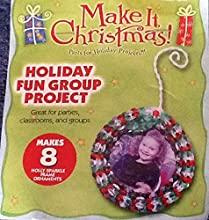 2007 Toner Plastics Holly Sparkle Frame Ornaments Group Project - Makes 8