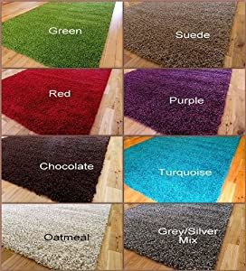 SMALL EXTRA LARGE RUG MODERN SOFT THICK SHAGGY RUGS NON SHED SHAG CIRCLE MATS ***(4 sizes & choice of colours)***
