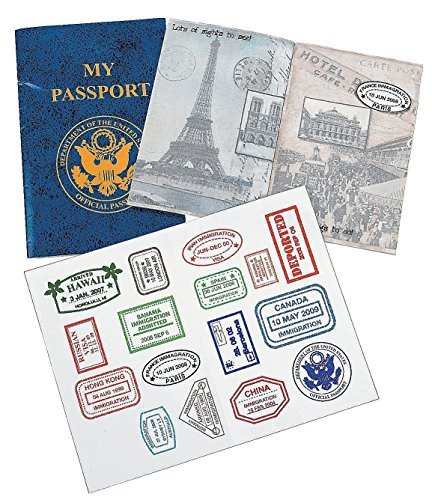 "My Passport Sticker Books (12 Pack.) 4"" X 6"". - Curriculum Projects & Activities & Social Studies"