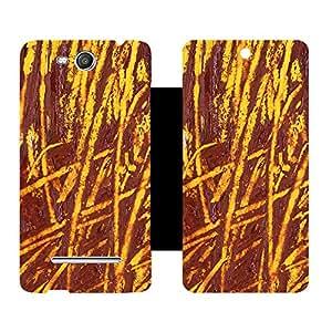 Skintice Designer Flip Cover with Vinyl wrap-around for Micromax Canvas Juice 3 Q392, Design - crackers
