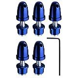 (5-Pack) HobbyPark RC Airplane Bullet Spinners Propeller Saver Adapter Holder Hubs For 3.0mm Shaft Brushless Motor Dark Blue (Color: Dark Blue, Tamaño: 103)