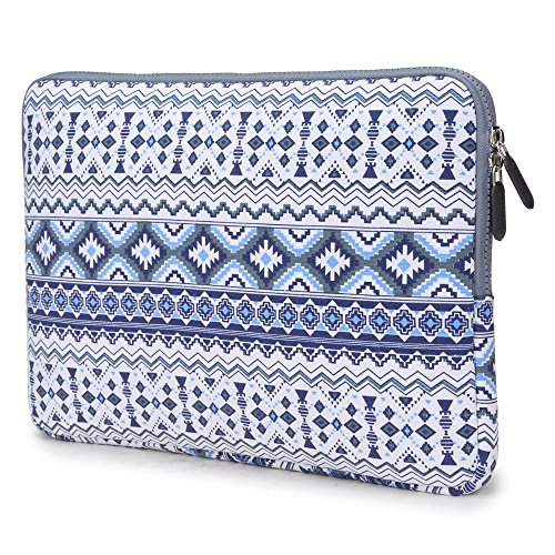 Coodio® ShockProof 35.8 cm (14 inch) Ultrabook Laptop Notebook Pattern Sleeve Bag for Chromebook 14 – Bohemian Stripe Blue