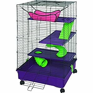 Kaytee My First Home Deluxe Multi-Level Pet Home with Casters