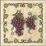 The Tile Mural Store - Sweet Grapes III by Joy Alldredge - Kitchen Backsplash / Bathroom wall Tile Mural
